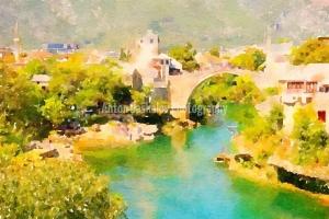 Watercolor-Mostar