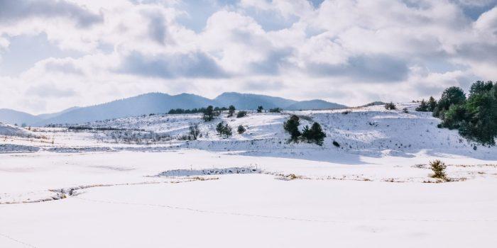 Красив зимен пейзаж от България